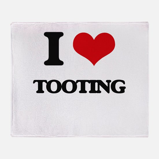 I love Tooting Throw Blanket