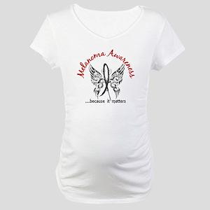 Melanoma Butterfly 6.1 Maternity T-Shirt