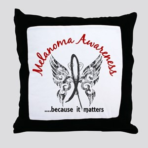 Melanoma Butterfly 6.1 Throw Pillow