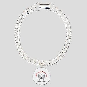 Melanoma Butterfly 6.1 Charm Bracelet, One Charm