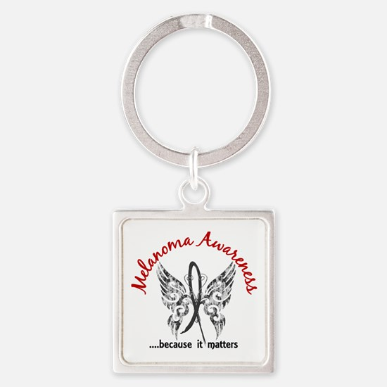Melanoma Butterfly 6.1 Square Keychain