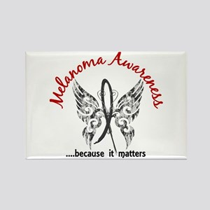 Melanoma Butterfly 6.1 Rectangle Magnet