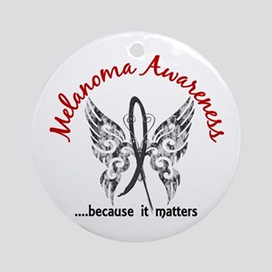 Melanoma Butterfly 6.1 Ornament (Round)