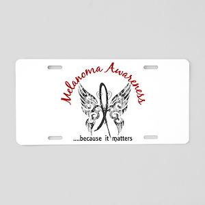 Melanoma Butterfly 6.1 Aluminum License Plate