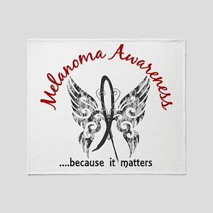 Melanoma Butterfly 6.1 Throw Blanket