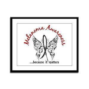 Melanoma Butterfly 6.1 Framed Panel Print
