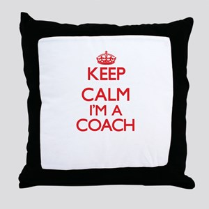 Keep calm I'm a Coach Throw Pillow