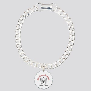 Skin Cancer Butterfly 6. Charm Bracelet, One Charm