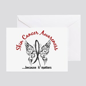 Skin Cancer Butterfly 6.1 Greeting Card