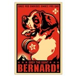 Obey the Saint Bernard! Large Poster