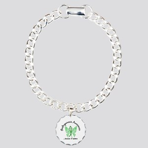 Gastroparesis Butterfly Charm Bracelet, One Charm