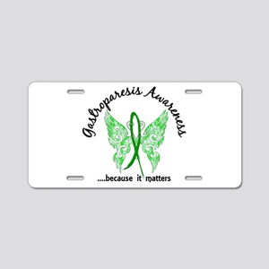 Gastroparesis Butterfly 6.1 Aluminum License Plate