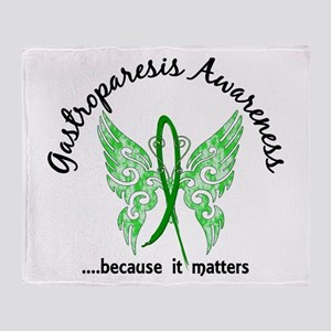 Gastroparesis Butterfly 6.1 Throw Blanket