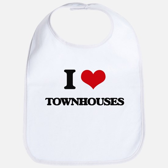 I love Townhouses Bib
