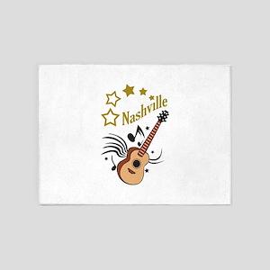 NASHVILLE MUSIC 5'x7'Area Rug