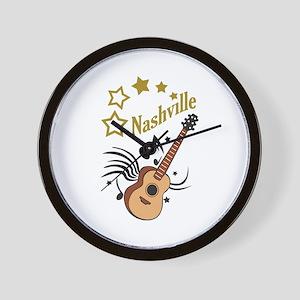 NASHVILLE MUSIC Wall Clock
