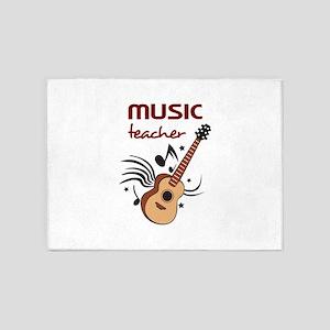 GUITAR MUSIC TEACHER 5'x7'Area Rug