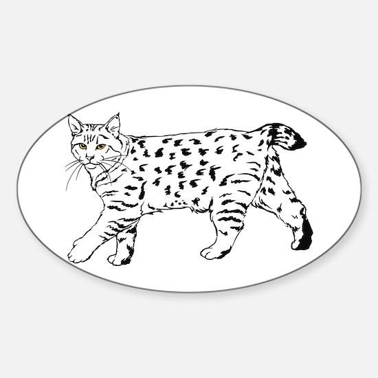 Pixie-Bob Oval Stickers