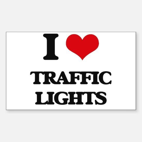 I love Traffic Lights Decal