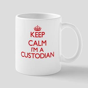 Keep calm I'm a Custodian Mugs