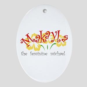 Makayla Oval Ornament