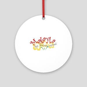 Makayla Ornament (Round)