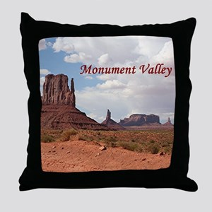 Monument Valley, Utah, USA 3 (caption Throw Pillow