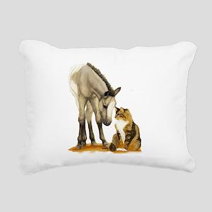 MiniandCat Rectangular Canvas Pillow