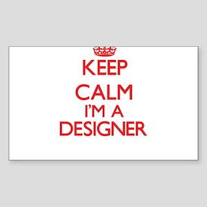 Keep calm I'm a Designer Sticker