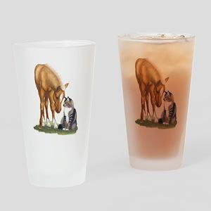mini sorrel cat Drinking Glass