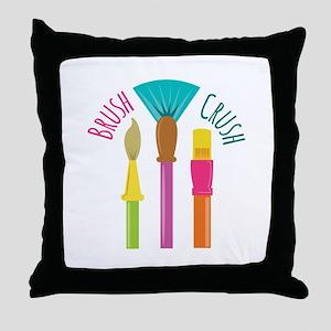 Brush Crush Throw Pillow