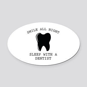 Smile All Night Oval Car Magnet