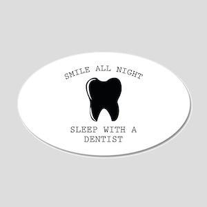 Smile All Night 22x14 Oval Wall Peel