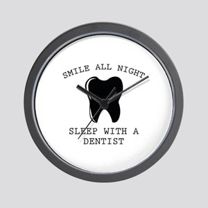 Smile All Night Wall Clock