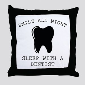 Smile All Night Throw Pillow