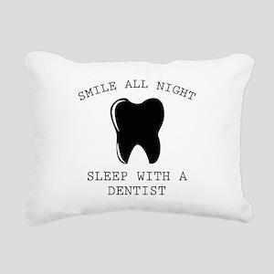 Smile All Night Rectangular Canvas Pillow