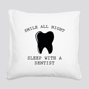 Smile All Night Square Canvas Pillow