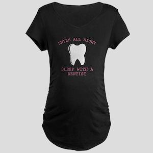 Smile All Night Maternity Dark T-Shirt