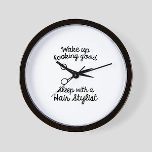 Wake Up Looking Good Wall Clock