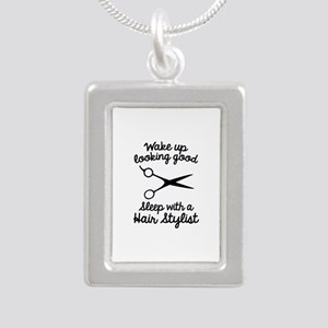 Wake Up Looking Good Silver Portrait Necklace