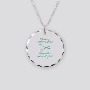 Wake Up Looking Good Necklace Circle Charm