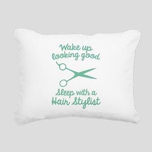 Wake Up Looking Good Rectangular Canvas Pillow