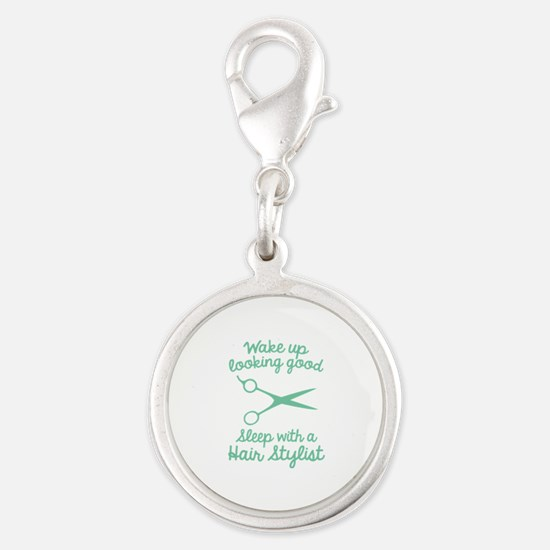 Wake Up Looking Good Silver Round Charm