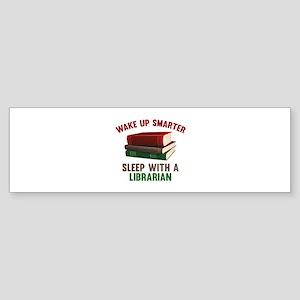 Wake Up Smarter Sleep With A Librarian Sticker (Bu