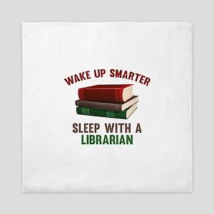 Wake Up Smarter Sleep With A Librarian Queen Duvet