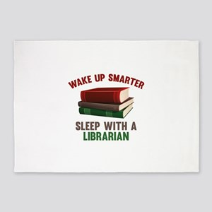 Wake Up Smarter Sleep With A Librarian 5'x7'Area R