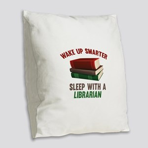 Wake Up Smarter Sleep With A Librarian Burlap Thro