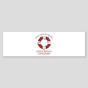 Sleep With A Lifeguard Sticker (Bumper)