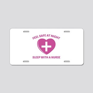 Feel Safe At Night Aluminum License Plate