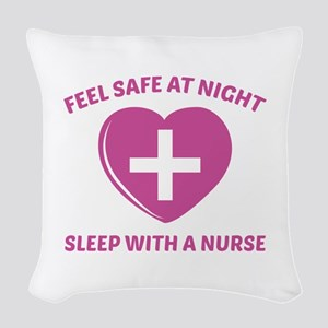 Feel Safe At Night Woven Throw Pillow